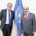 Jean-François Isambert and Graziano Da Silva discussed fruitful cooperation to support forest & farm producers